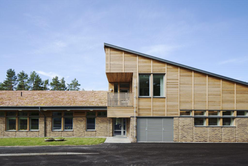 Förskolan utsikten. Byggnad i trä